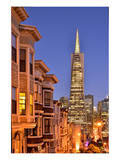 View from the Urban District of North Beach towards Transamerica Pyramid, San Francisco Art