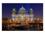 Festival of Lights, Pleasure Garden, Lustgarten, with Fountain and Berlin Cathedral, Berlin Prints