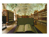 Theological library, Strahov Abbey, Prague, Central Bohemia, Czech Republic Prints