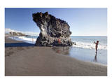 Rock on Puerto Naos Beach, Island of La Palma, Canary Islands, Spain Prints