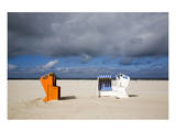 Beach at Ostbad, Norderney, East Frisian Islands, Lower Saxony, Germany Prints