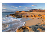 Beach at Playa Papagayo near Playa Blanca, Lanzarote, Canary Islands, Spain Print