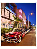 Dodge Classic Car on Collins Avenue, Miami Beach in Miami, Florida, USA Art