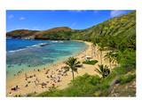 View of Hanauma Bay, Island of Oahu, Hawaii, USA Art
