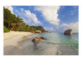 Anse Source d'argent beach, La Digue Island, Seychelles Prints