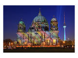 Festival of Lights, Berlin Cathedral at the Pleasure Garden, Lustgarten, Berlin Prints