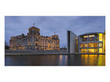 Reichstag and Paul Loebe House in the evening, Berlin, Germany Art