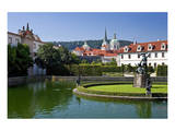 Baroque Wallenstein Garden at Wallenstein Palace at Prague Lesser Town, Czech Republic Poster