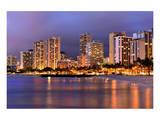 Waikiki Beach, Honolulu, Island of Oahu, Hawaii, USA Prints