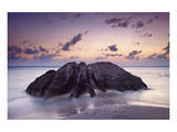 Rock at the Anse Source d'Argent beach, La Digue Island, Seychelles Posters
