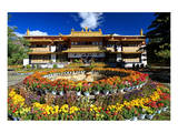 Garden of the Summer Residence of the 14th Dalai Lama, Norbulingka, Lhasa, Tibet, China Posters