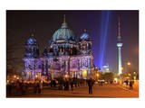 Festival of Lights, Berlin Cathedral at the Pleasure Garden, Lustgarten, Berlin Art