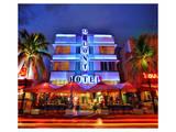 Colony Hotel on Ocean Drive in the Art Deco District of South Miami Beach in Miami, Florida, USA Prints