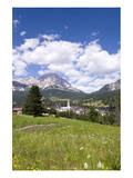 View of Cortina d' Ampezzo, Dolomites, Veneto, Italy Art
