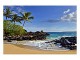 Makena Beach State Park with View towards Molokini Island, Island of Maui, Hawaii, USA Posters