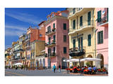 Row of Houses on the Seafront Promenade in the Urban District of Oneglia in Imperia Prints