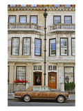 Rolls Royce in front of a typical Residential House in London, South of England Art