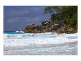 Beach of the Lemuria Resort of Praslin, Praslin Island, Seychelles Art
