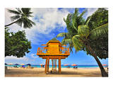 Lifeguard Station on Rockley Beach, Christ Church, Barbados, Caribbean Prints