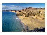 Beach at Playa Papagayo near Playa Blanca, Lanzarote, Canary Islands, Spain Prints