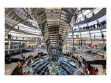 Inside the Dome of the Reichstag Building, Berlin, Germany Prints