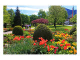 Park in Rottach-Egern on Lake Tegernsee, Upper Bavaria, Bavaria, Germany Prints