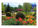Park in Rottach-Egern on Lake Tegernsee, Upper Bavaria, Bavaria, Germany Prints