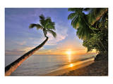 Sunset on the Beach at The Sandpiper Hotel, Holetown, St. James, Barbados, Caribbean Posters