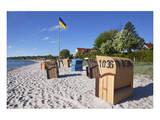 Beach of the Baltic Seaside Resort of Eckernfoerde, Schleswig-Holstein, Germany Affiches