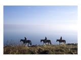 Horseback riding on the tideland, Sylt, Schleswig-Holstein, Germany Prints
