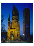 Kaiser-Wilhelm Memorial Church in Berlin, Germany Print