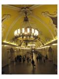 Metro Station Komsomolskaja, Moscow, Russia Posters