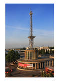 Radio Tower called Langer Lulatsch, meaning Lanky Lad, on the Exhibition Grounds in Berlin, Germany Prints