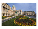 Buda castle with park, Budapest, Hungary Print