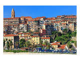 View of the Old Town of Ventimiglia, Province of Imperia, Liguria, Italy Prints