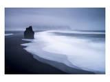 Black Lava Beach at Cape Dyrholaey near Vik i Myrdal, Myrdalur, Iceland Posters