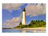 Lighthouse at Bill Baggs Cape, Key Biscayne, Florida, USA Prints