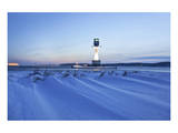 Friedrichsort Lighthouse on Kiel Fjord, Schleswig-Holstein, Germany Prints