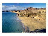 Beach at Playa Papagayo near Playa Blanca, Lanzarote, Canary Islands, Spain Art