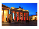 Festival of Lights, Brandenburg Gate at Pariser Platz, Berlin, Germany Poster