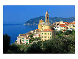View of the Medieval Old Town of Cervo, Province of Imperia, Liguria, Italy Posters