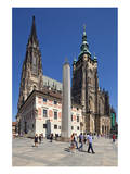 St. Vitus Cathedral with Hradcany in Prague, Central Bohemia, Czech Republic Prints