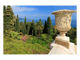 Crater at Hanbury Botanic Gardens near Ventimiglia, Province of Imperia, Liguria, Italy Print