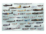 World War II Aircrafts Poster