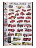 History of Firefighting Plakat