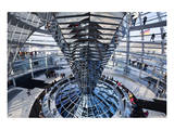 Inside the Dome of the Reichstag Building, Berlin, Germany Print