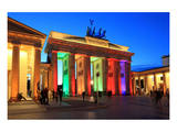 Festival of Lights, Brandenburg Gate at Pariser Platz, Berlin, Germany Poster