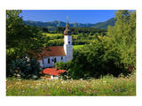 Parish church of St. Georg in Bad Bayersoien, Upper Bavaria, Germany Print