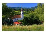 Parish church of St. Georg in Bad Bayersoien, Upper Bavaria, Germany Print