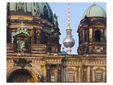 Berlin Cathedral with Television Tower, Berlin, Germany Prints